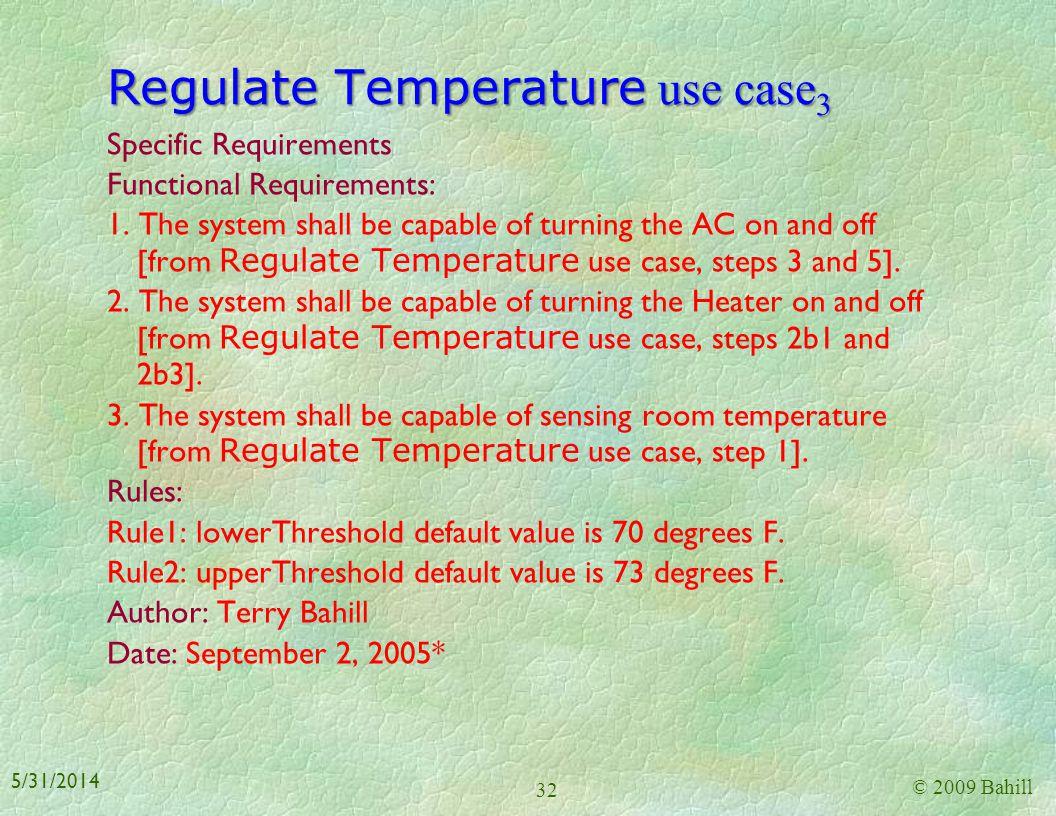 Regulate Temperature use case3