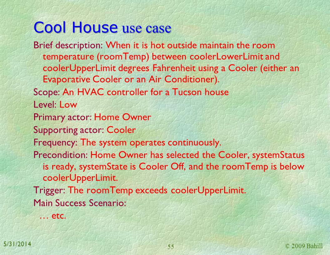 Cool House use case