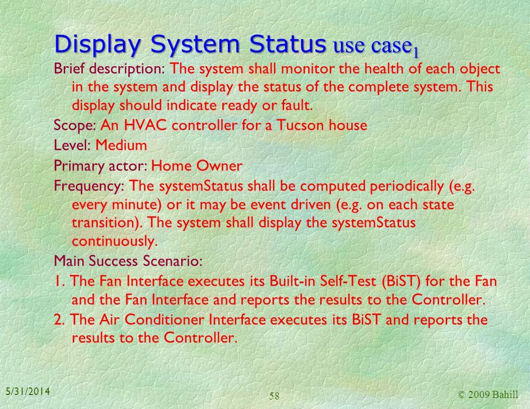 Display System Status use case1