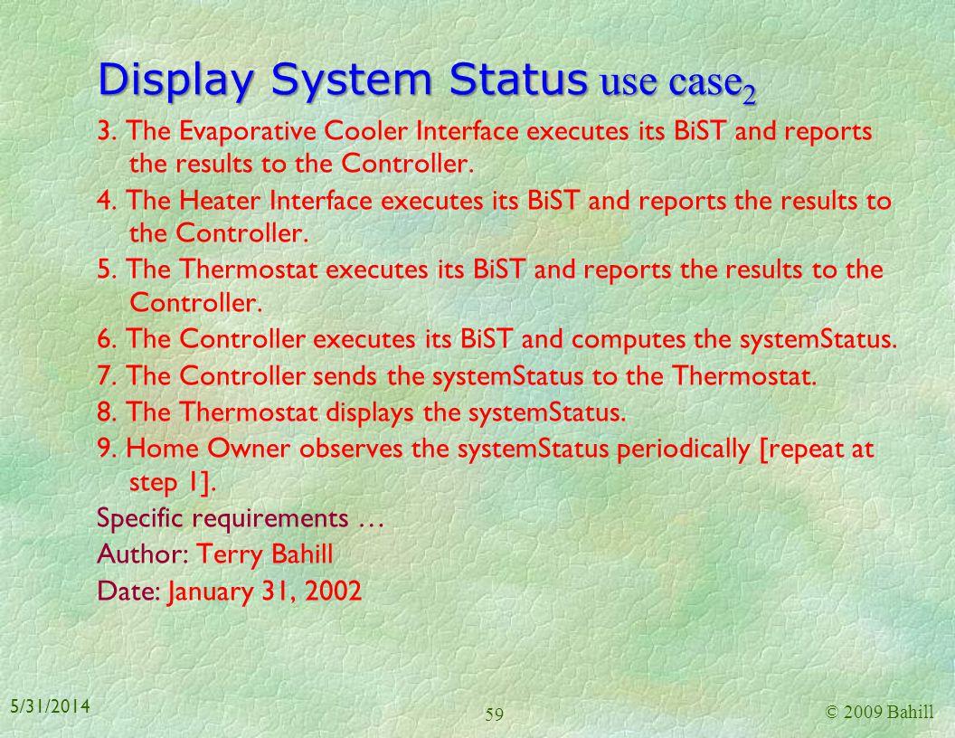 Display System Status use case2