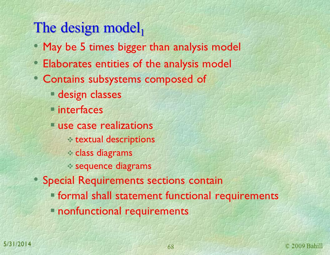 The design model1 May be 5 times bigger than analysis model