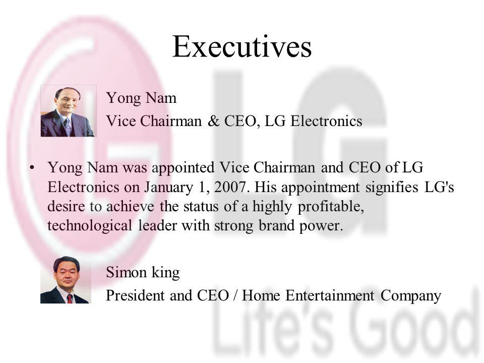 Executives Yong Nam Vice Chairman & CEO, LG Electronics