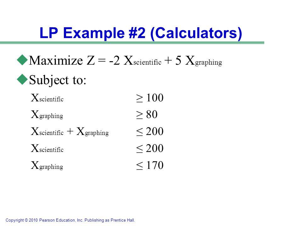 LP Example #2 (Calculators)