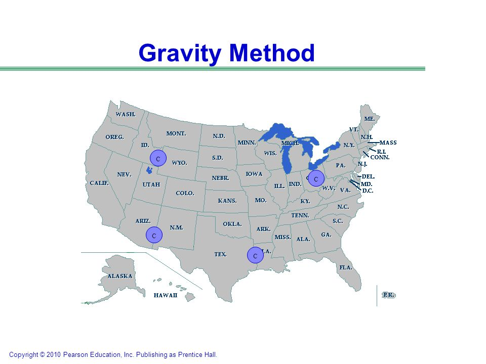 Gravity Method C. C. C. So the regions have been determined in Phase 2… we need to look at potential locations in each region.