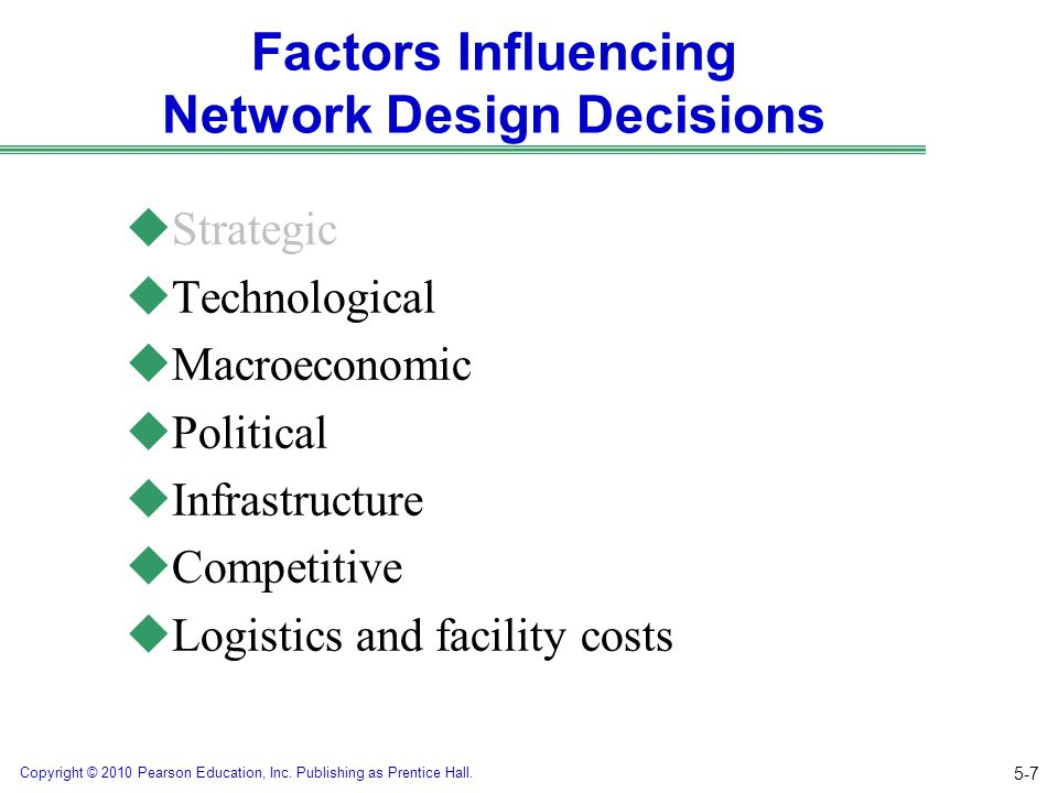 Factors Influencing Network Design Decisions