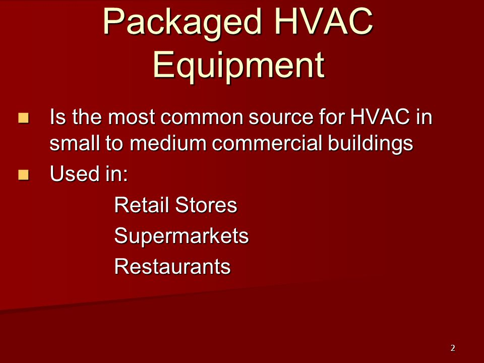Packaged HVAC Equipment