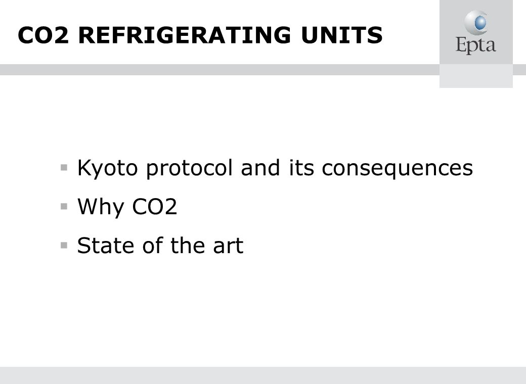 CO2 REFRIGERATING UNITS