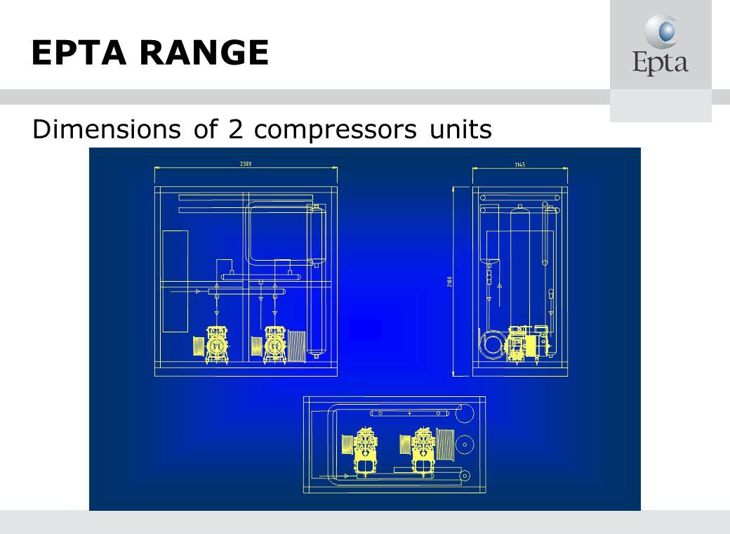 EPTA RANGE Dimensions of 2 compressors units