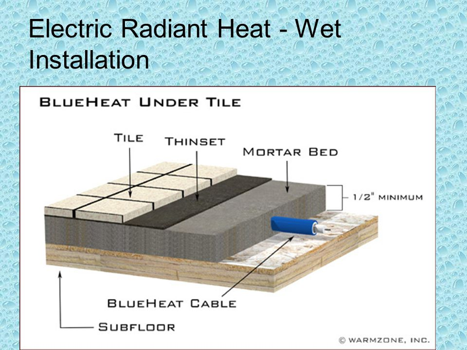 Electric Radiant Heat - Wet Installation