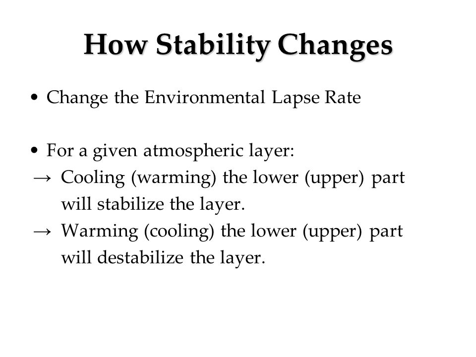 How Stability Changes Change the Environmental Lapse Rate