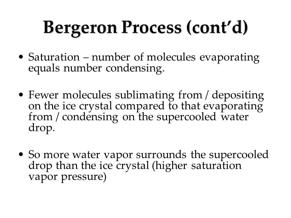 Bergeron Process (cont'd)