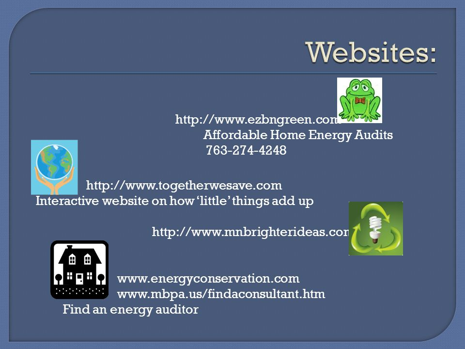 Websites: http://www.ezbngreen.com 763-274-4248
