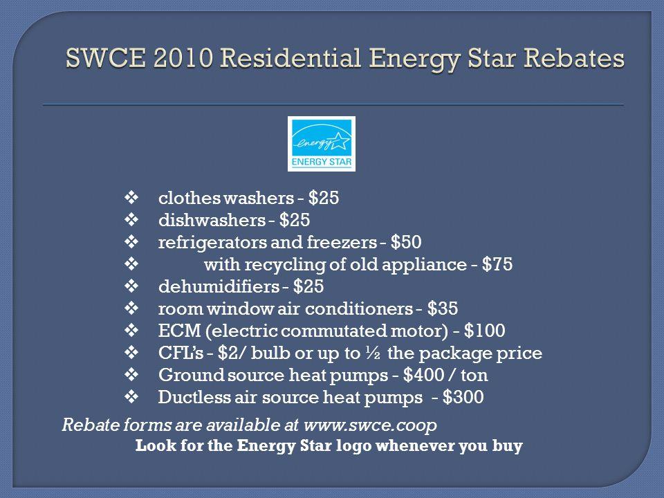 SWCE 2010 Residential Energy Star Rebates