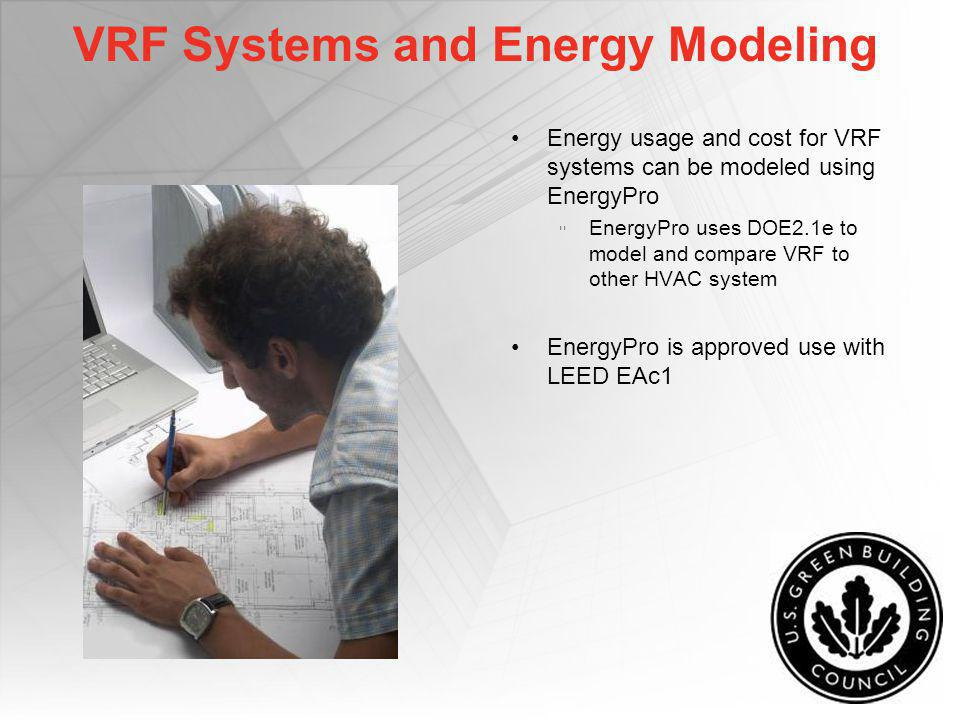 VRF Systems and Energy Modeling