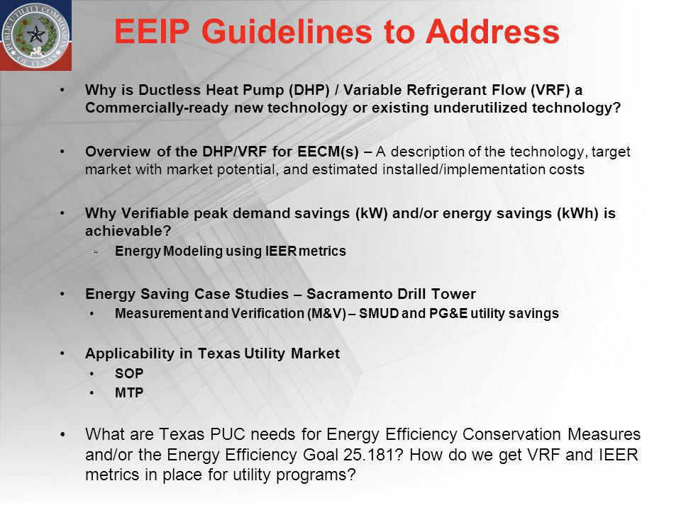 EEIP Guidelines to Address