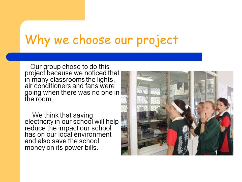 Why we choose our project
