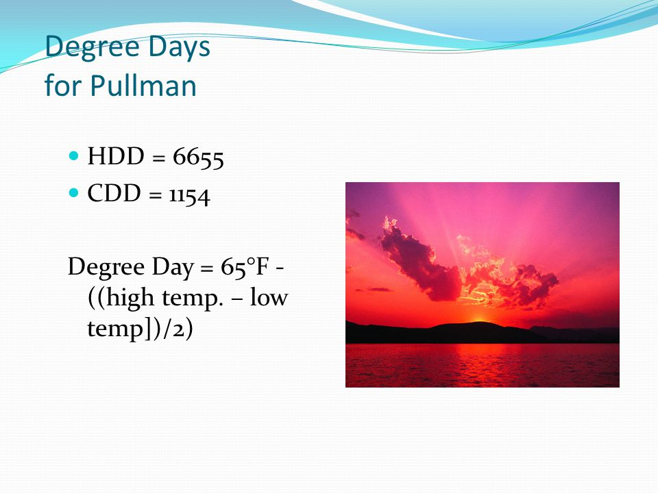 Degree Days for Pullman