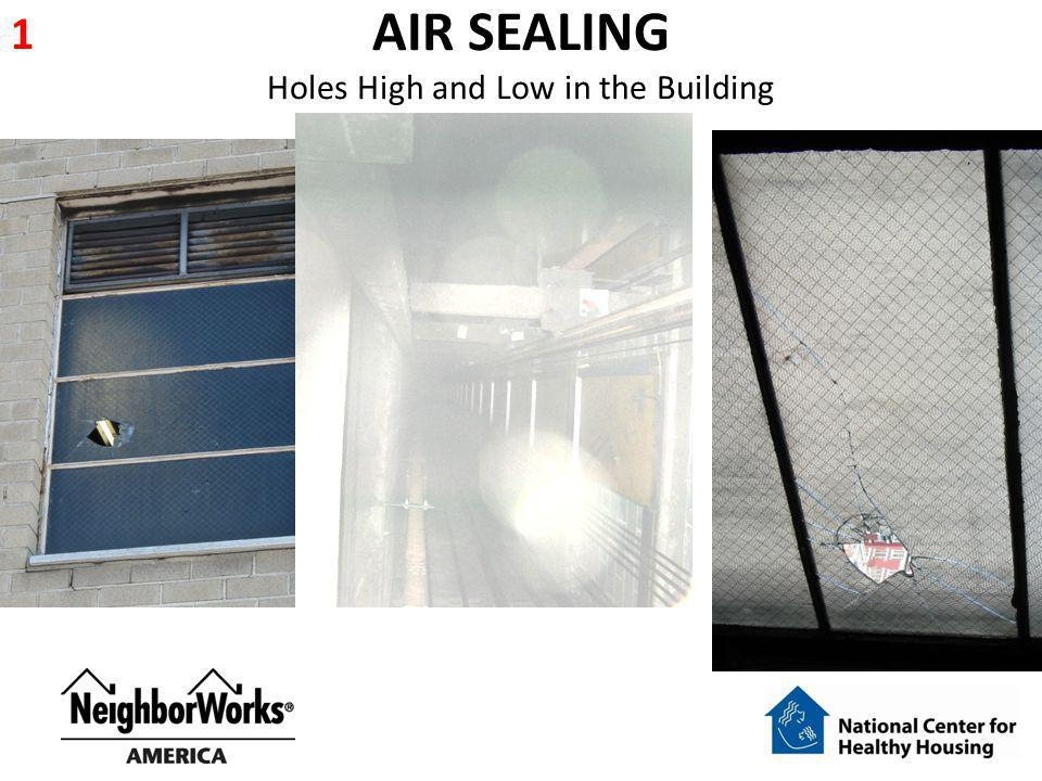 AIR SEALING Holes High and Low in the Building