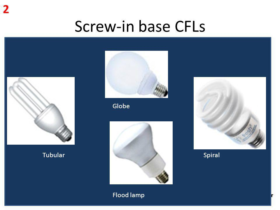 Screw-in base CFLs 2 Globe Tubular Spiral Flood lamp