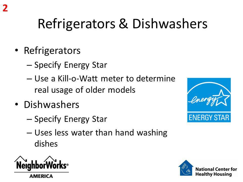 Refrigerators & Dishwashers