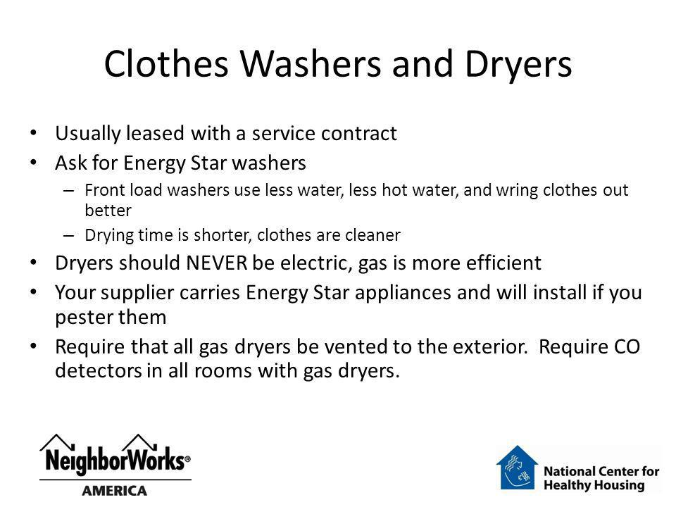 Clothes Washers and Dryers