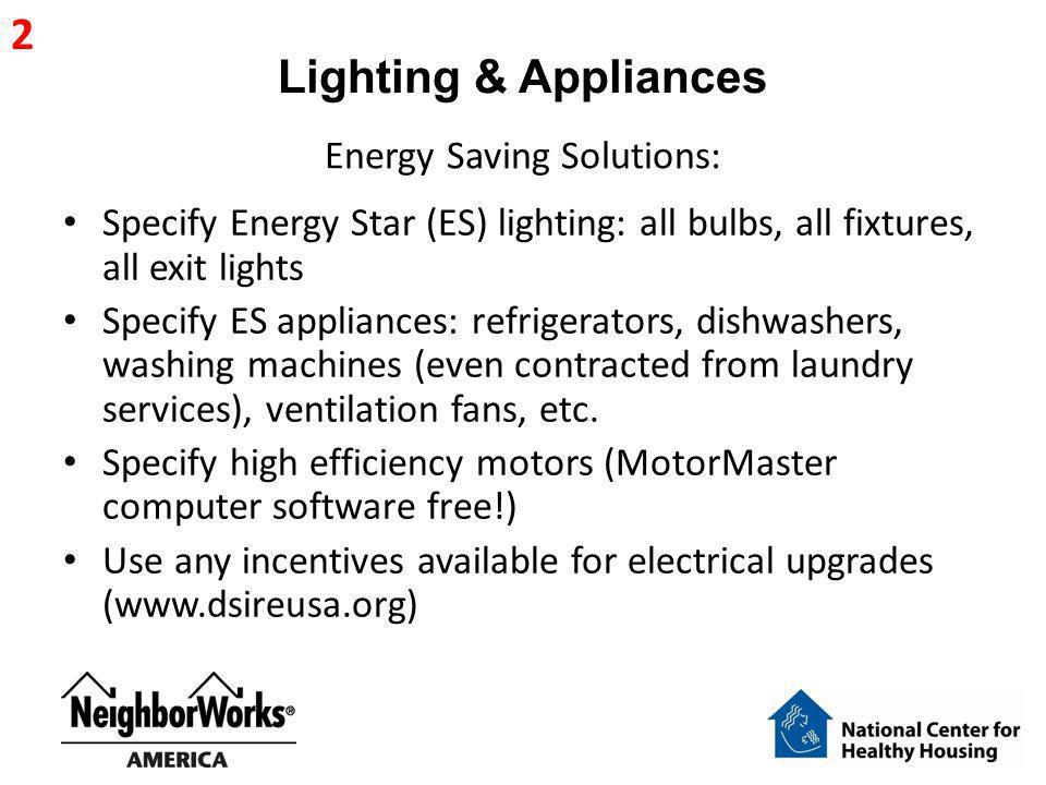 Energy Saving Solutions: