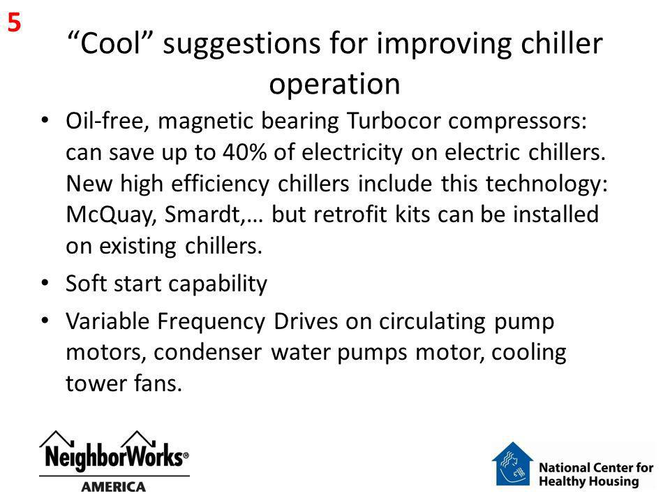 Cool suggestions for improving chiller operation