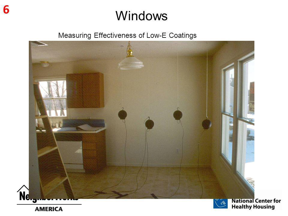 6 Windows Measuring Effectiveness of Low-E Coatings