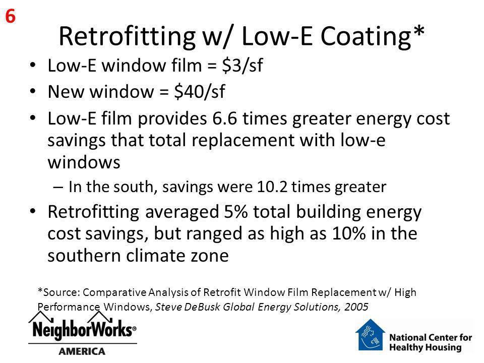Retrofitting w/ Low-E Coating*