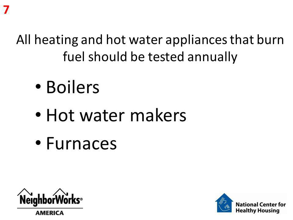 Boilers Hot water makers Furnaces