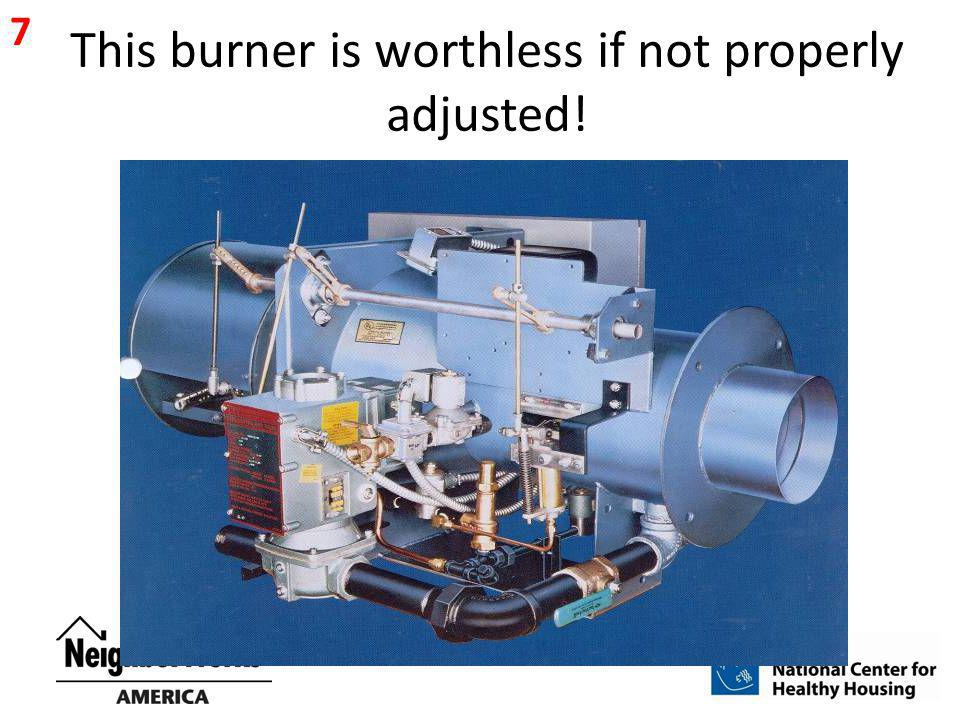This burner is worthless if not properly adjusted!