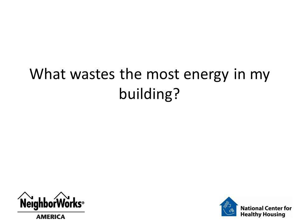 What wastes the most energy in my building