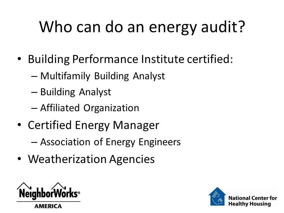 Who can do an energy audit