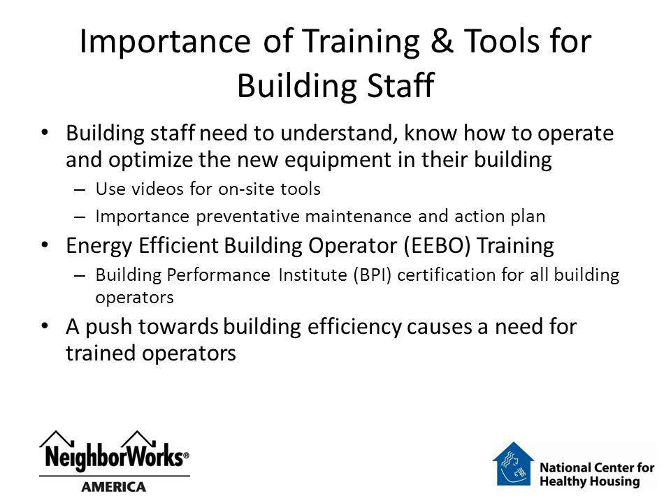 Importance of Training & Tools for Building Staff