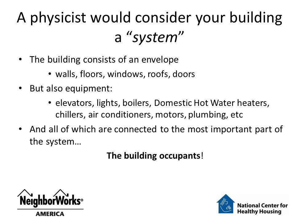 A physicist would consider your building a system