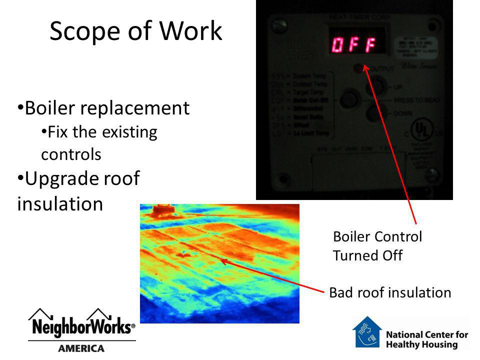 Scope of Work Boiler replacement Upgrade roof insulation
