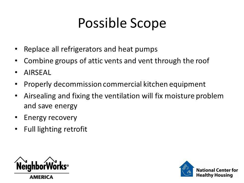 Possible Scope Replace all refrigerators and heat pumps