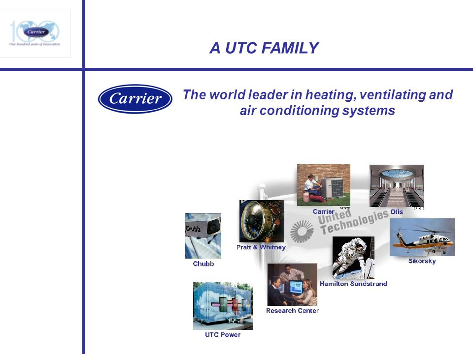 The world leader in heating, ventilating and air conditioning systems