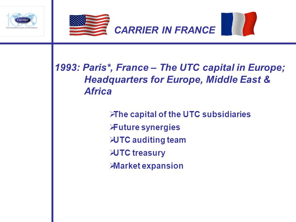 1993: Paris*, France – The UTC capital in Europe;