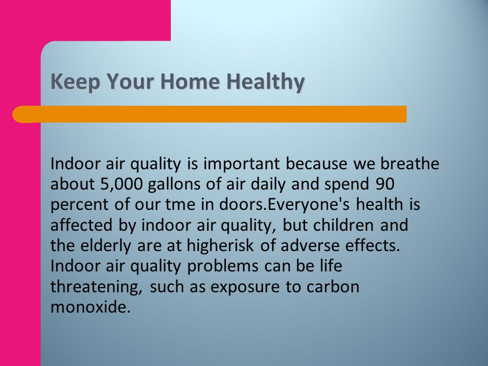 Keep Your Home Healthy