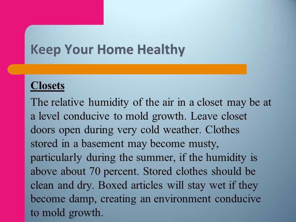 Keep Your Home Healthy Closets