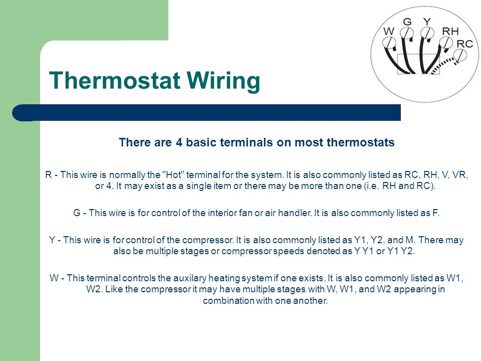basic thermostat wiring residential thermostat wiring