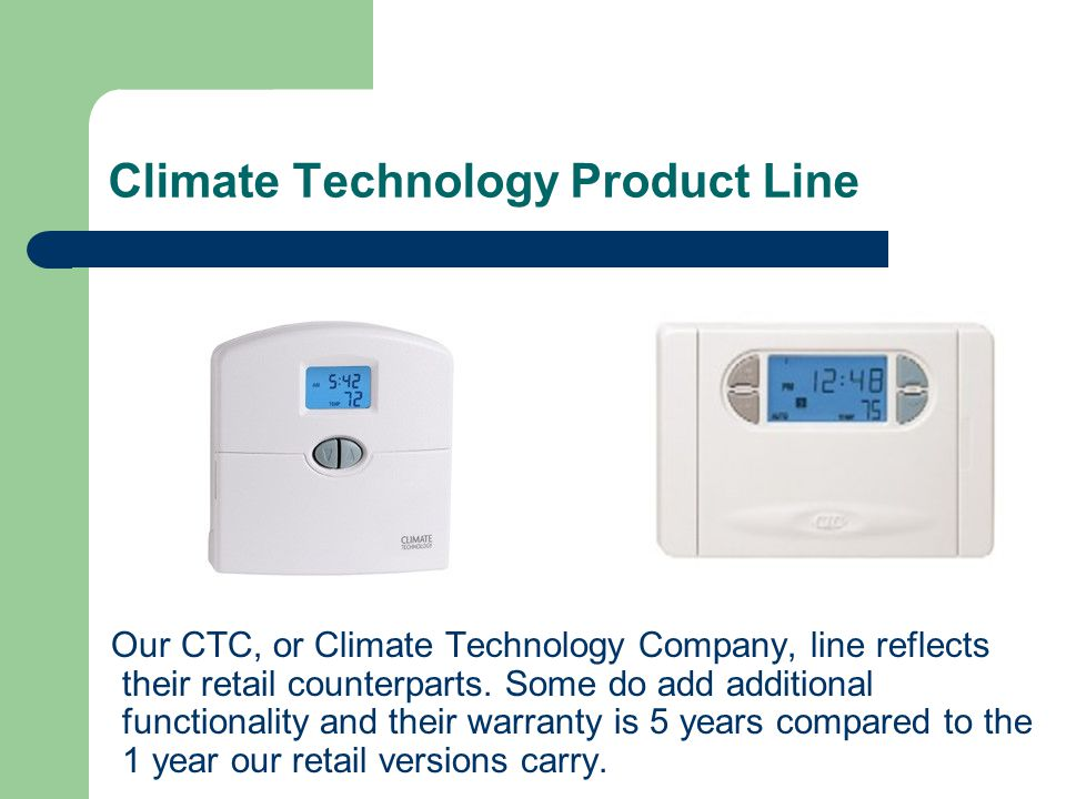 Climate Technology Product Line