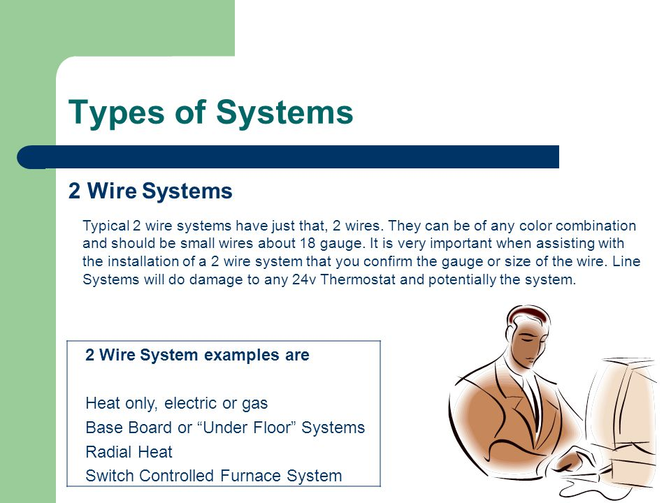 Hunter thermostat training ppt video online download for Types of gas heating systems