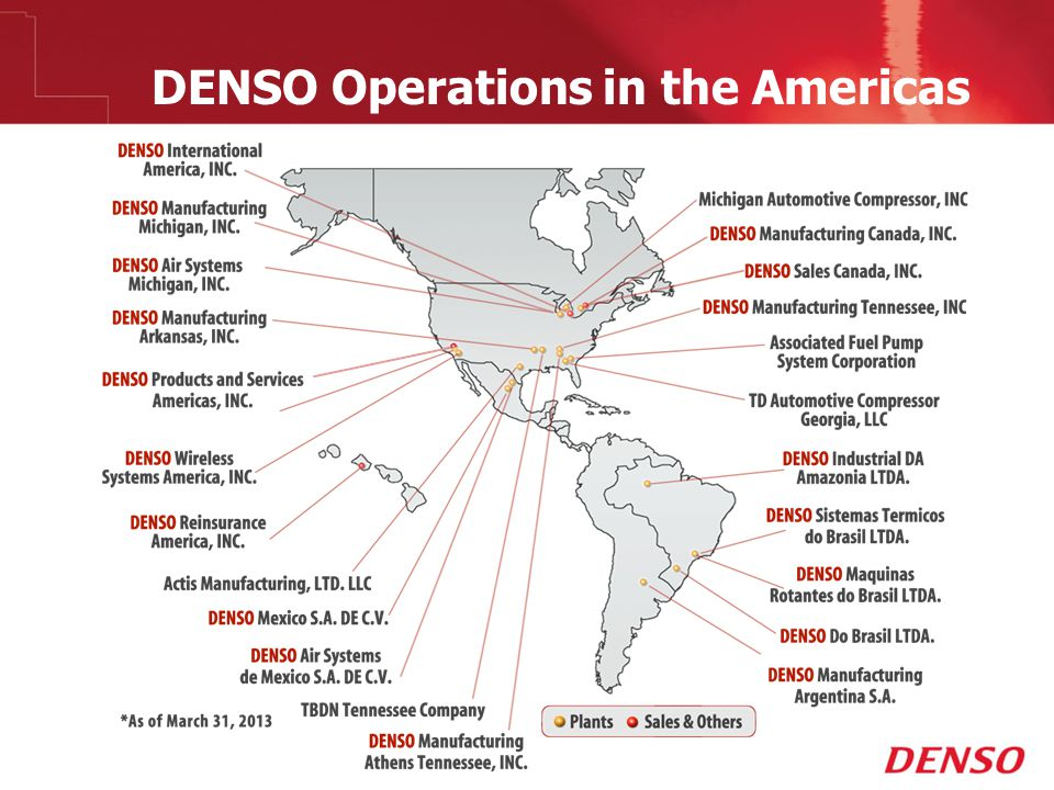 DENSO Operations in the Americas