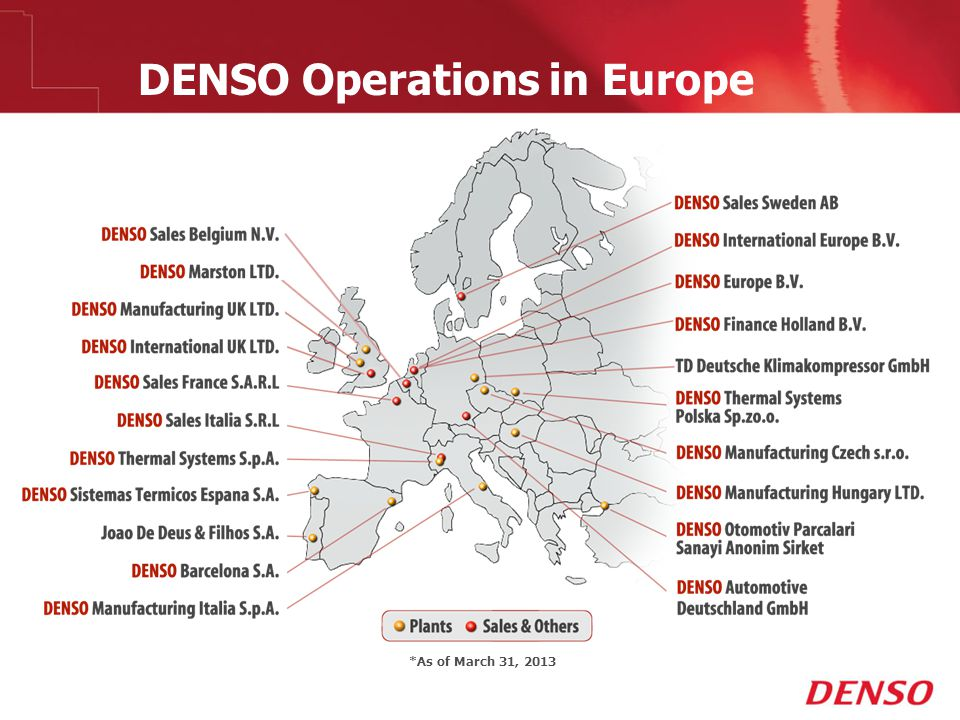 DENSO Operations in Europe