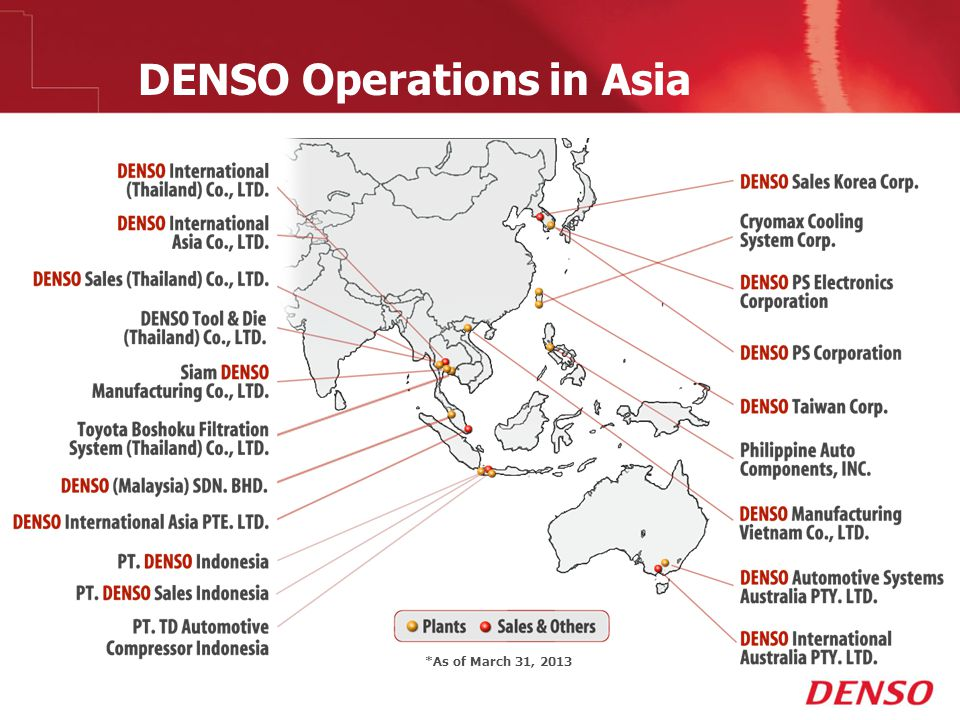 DENSO Operations in Asia