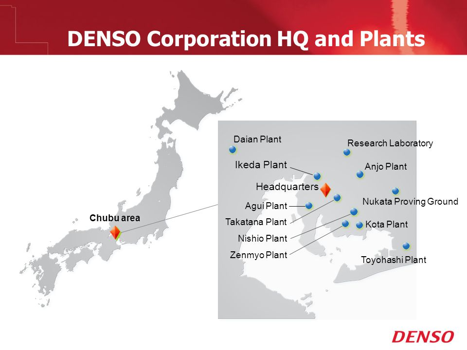 DENSO Corporation HQ and Plants