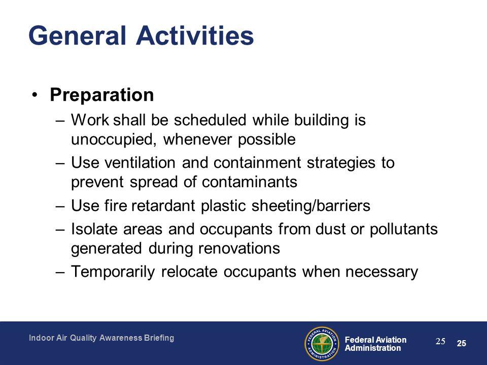 General Activities Preparation