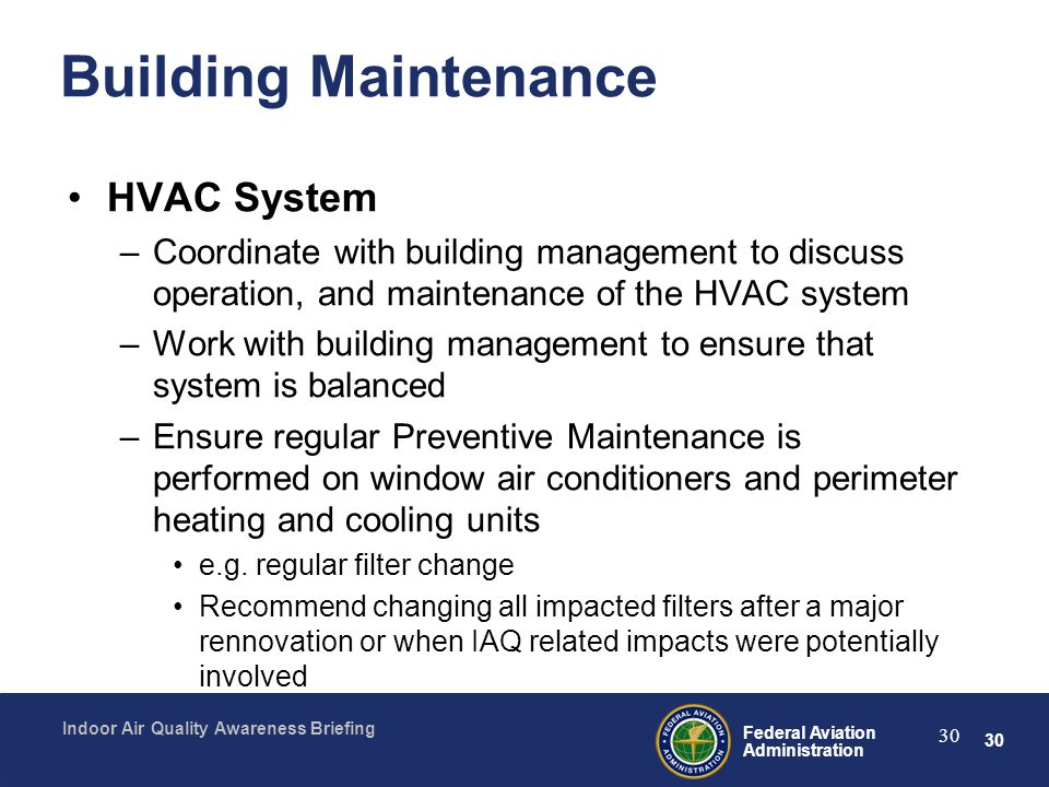 Building Maintenance HVAC System